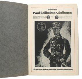 German Paul Seilheimer Dagger Sword Catalog