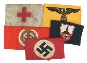 Lot Of 5 German Wwii Armbands