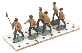 German Wwii Elastolin Ss Toy Soldiers