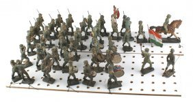 German Wwii Elastolin Army Toy Soldiers