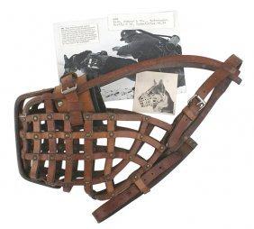 German Wwii Leather Dog Muzzle