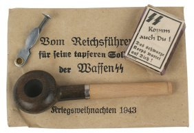 German Wwii Christmas Gift Pipe Waffen-ss