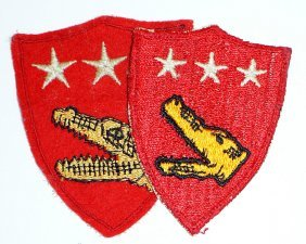 Lot Of 2 U.s. Wwii Patches Usmc