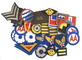 Lot Of 35 U.s. Wwii Patches Insignia