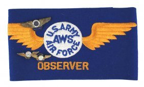 Lot Of U.s. Wwii Air Warning Service Insignia