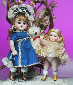 GERMAN ALL-BISQUE SWIVEL-NECK DOLL WITH BROWN BOOTI