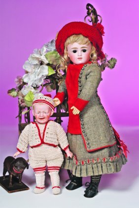 GERMAN BISQUE CLOSED-MOUTH DOLL BY KESTNER.  Marks: