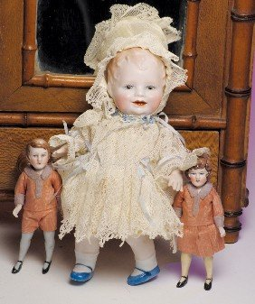 BONNIE BABE ALL-BISQUE DOLL BY GEORGENE AVERILL.  M