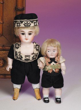 KESTNER ALL-BISQUE DOLL WITH YELLOW BOOTS.  Marks: