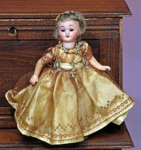 """TINY GERMAN BISQUE DOLL.  Marks:  1.  6"""".  Bisque"""