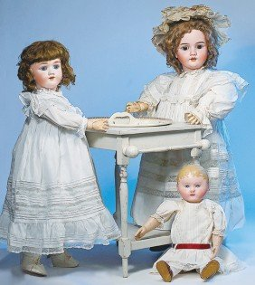 GERMAN BISQUE DOLL BY KLEY & HAHN