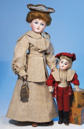 SIMON & HALBIG, GERMAN BISQUE LADY DOLL