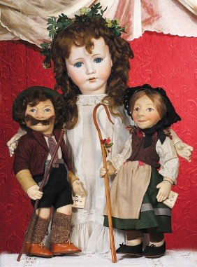 LARGE GERMAN BISQUE DOLL BY MAX OSCAR ARNOLD.  Mar