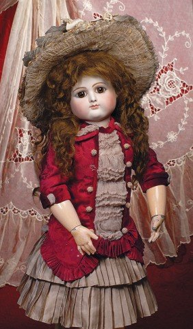 RARE FRENCH BISQUE BEBE BY PETIT & DUMONTIER WITH
