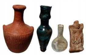 Group Of Ancient Pottery And Glass Pieces
