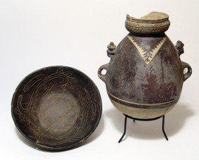 Pair Of Pre-Columbian Ceramic Vessels