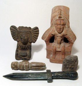 Lot Of 5 Pre-Columbian Style Pieces