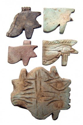 Group Of 5 'Eye Of Horus' Amulets, Late Period