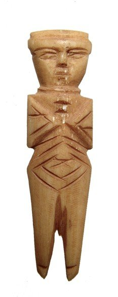 Nicely Carved Coptic Bone Figure, Egypt
