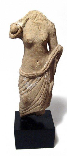 Roman Limestone Torso Of Aphrodite