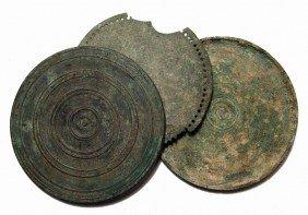 Roman Bronze Mirror With Case