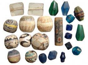 23 Mixed Glass Beads, Roman - Islamic