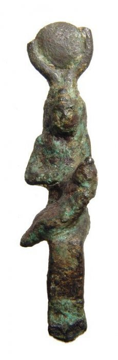 Egyptian Bronze Figure Of Seated Isis, Late Period