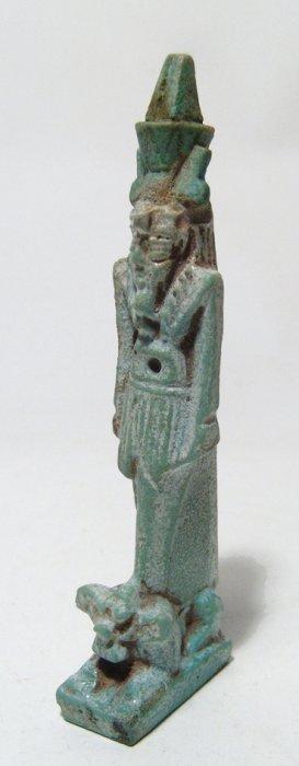 Large And Beautiful Egyptian Faience Amulet Of Nefertum