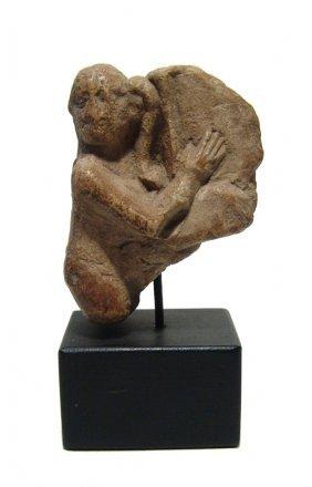 Egyptian Limestone Ithyphallic Harpokrates, Late Period