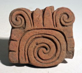 A Fine Maya Stamp From Mexico, Ca. 250 - 600 Ad