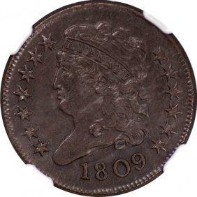 1809 Classic Head Half Cent, NGC AU58 BN