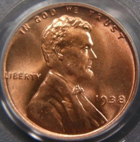 Stunning 1938 Cent, PCGS MS67 Red