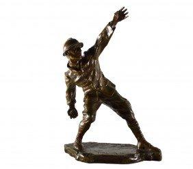 Bronze 'Grenade Thrower', M. Guiraud Riviere 1916