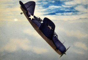 Color Photo Litho Print WWII British Dive Bomber