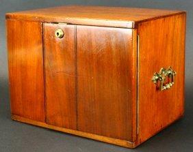 Mahogany 2-door W/drawers, C. 1860