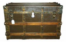 Trunk, Steamer, Oak & Brass Bound