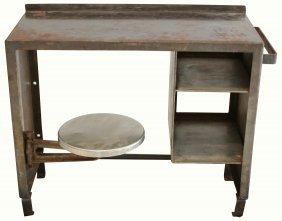 Desk W/ Attached Stool, Folger Adam, Prison Use
