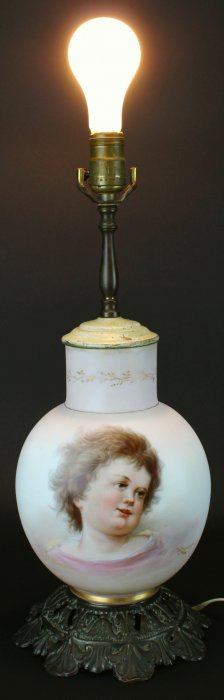 Porcelain Hand Painted Lamp, Ahne