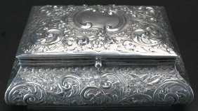 Sterling Silver Repousse Decorated Box