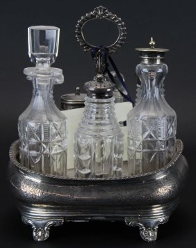 Caster Set, Sterling Hallmarked, London, 1833