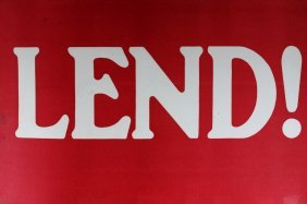 Wwi Poster, Lend! 1917