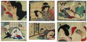 6 Prints Japanese Erotica