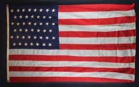 American Flag (45) Stars (circa 1896-1907)