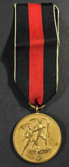 Nazi1938 Annexation Of Czechoslovakian Medal