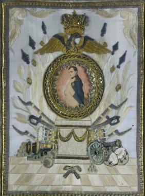 Needlework, Napoleon Memorial, C. 1825