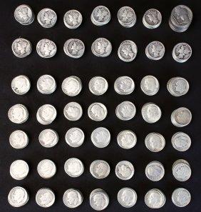 443 Piece Set, Coins, Dimes, 1940s
