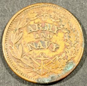 Token, Civil War, Army And Navy, 1863
