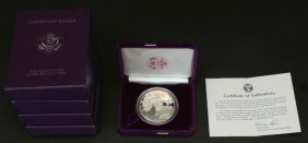 (4)1986 Silver Liberty One Dollar Proof, 1 Oz