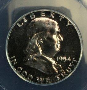 1954 $ .50 Franklin Half Pr 65 Anacs