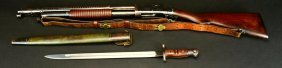 M-1897 Winchester, Military, Trench W/bayonet,80%